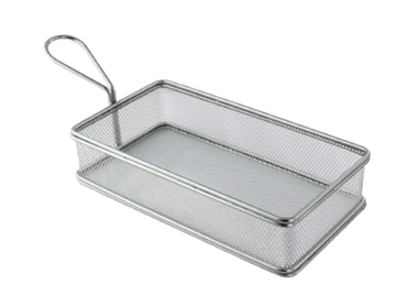 Rectangular Stainless Steel Serving Fry Basket