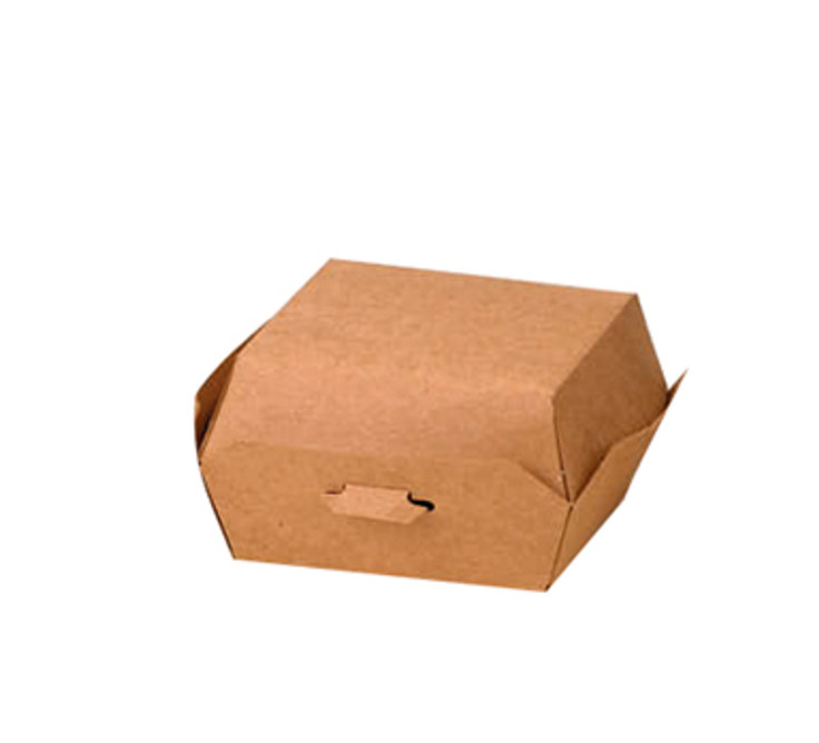 Kraft Mini Burger Box - 3.5 in.