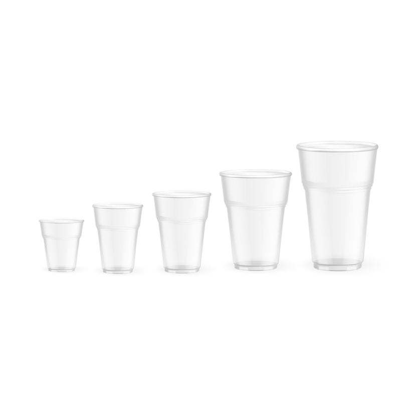 Biodegradable and compostable cold cups (corn) made from (PLA) an Eco friendly corn based resin - 5.5 oz