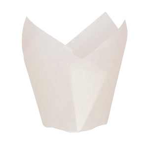 Tulips White Silicone Baking Cup - 1.25 oz Dia: 1.2""