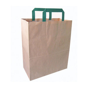 Kraft Paper Bag with Handle - H:13'' Gusset: 10.5 x 5.5''