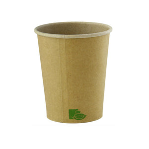 "Zen Kraft Recyclable Paper Cups - 8 oz Dia: 3.15"" H: 3.6"""