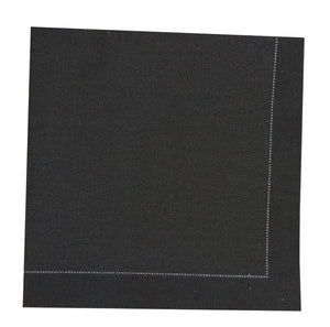 "Black cocktail cotton napkin - 7.9"" x 7.9"" - 200pcs"