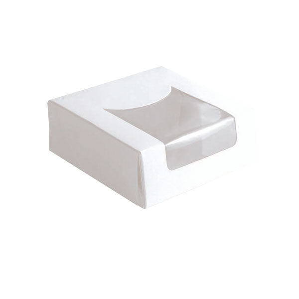 White Pastry Boxes with Window 3.9 in