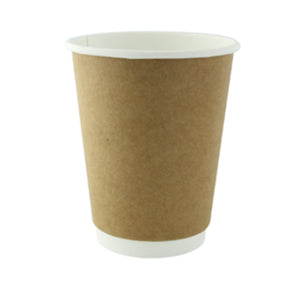 Compostable Paper Cups - Kraft Double Wall 12oz