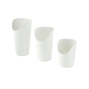 White Kraft Wrap Cup - 14 oz H 6.3 / Dia: 2.36''