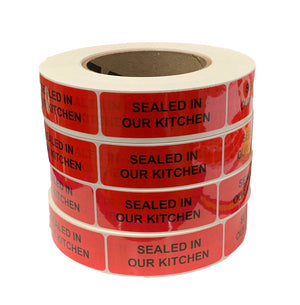 "New!! Tamper Evident Labels (Large) 1"" x 2.9"""