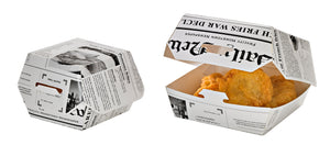 Newspaper Print Mini Slider Box - 2 oz