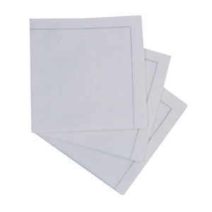 Luxury White Snow Cotton Cocktail Napkin (Reusable)
