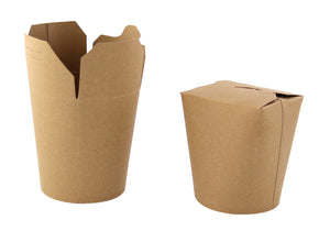 "Kraft Take Out Container - 16 oz Dia: 3.25"" H: 3.75"""