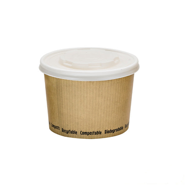 Compostable Soup Cups, 16oz, lined with PLA