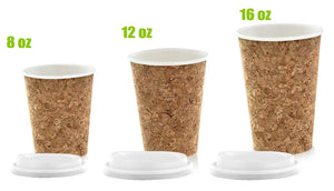 Insulated Corked Coffee Cup 12 oz