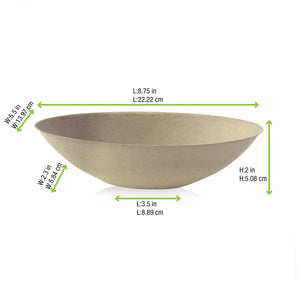Bio n Chic Brown Oval Sugarcane Bowl - 24oz