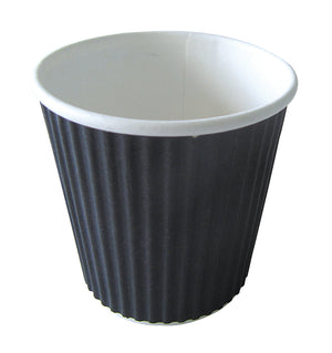 Black Rippled Cup 4oz