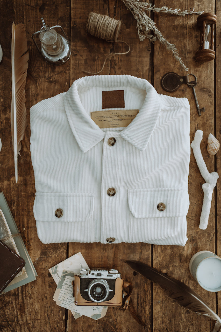 Reis - Women White Cord Shirt/Jacket