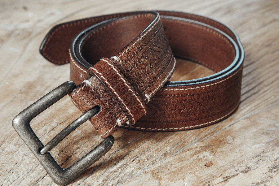 Russet Leather Vintage Belt
