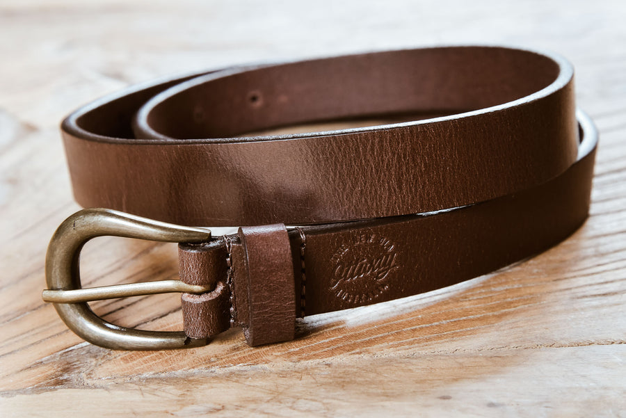 Chestnut Pouch Handcrafted Leather Belt