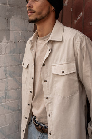 Cream Corduroy - Long Sleeve Shirt