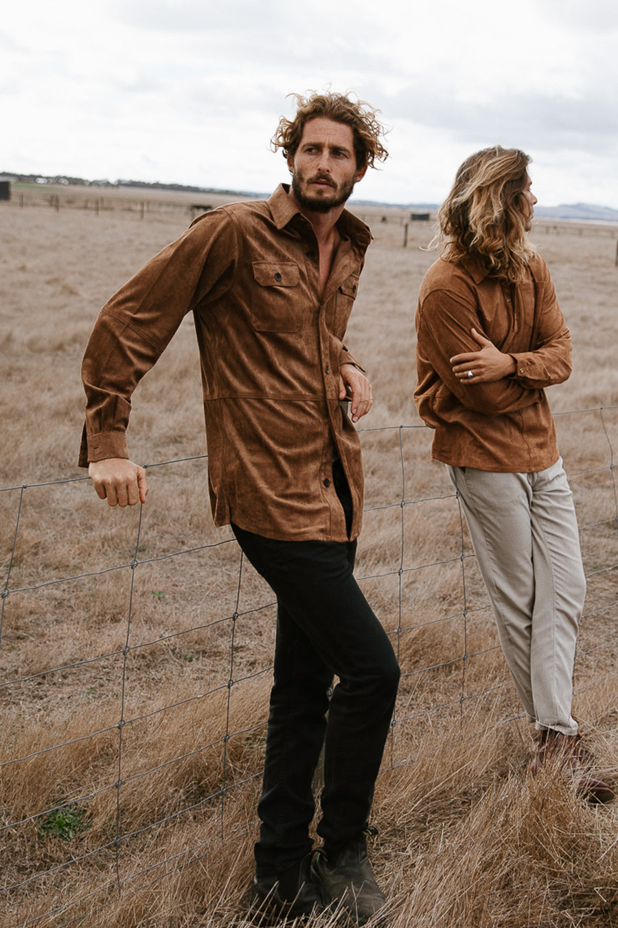 New Federal - Suede Long Sleeve Shirt/Jacket