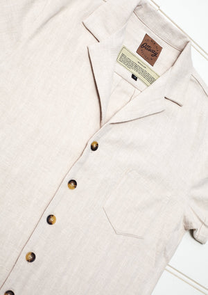 Whistler Cream - Ramie Short Sleeve Vintage Shirt