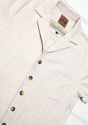 Whistler Cream - Ramie Shirt Dress