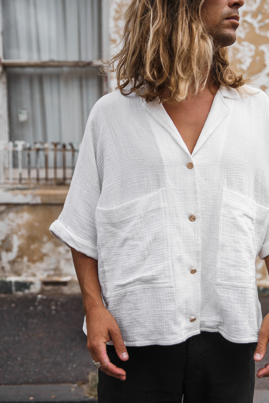 BRELLA - White Short Sleeve Shirt