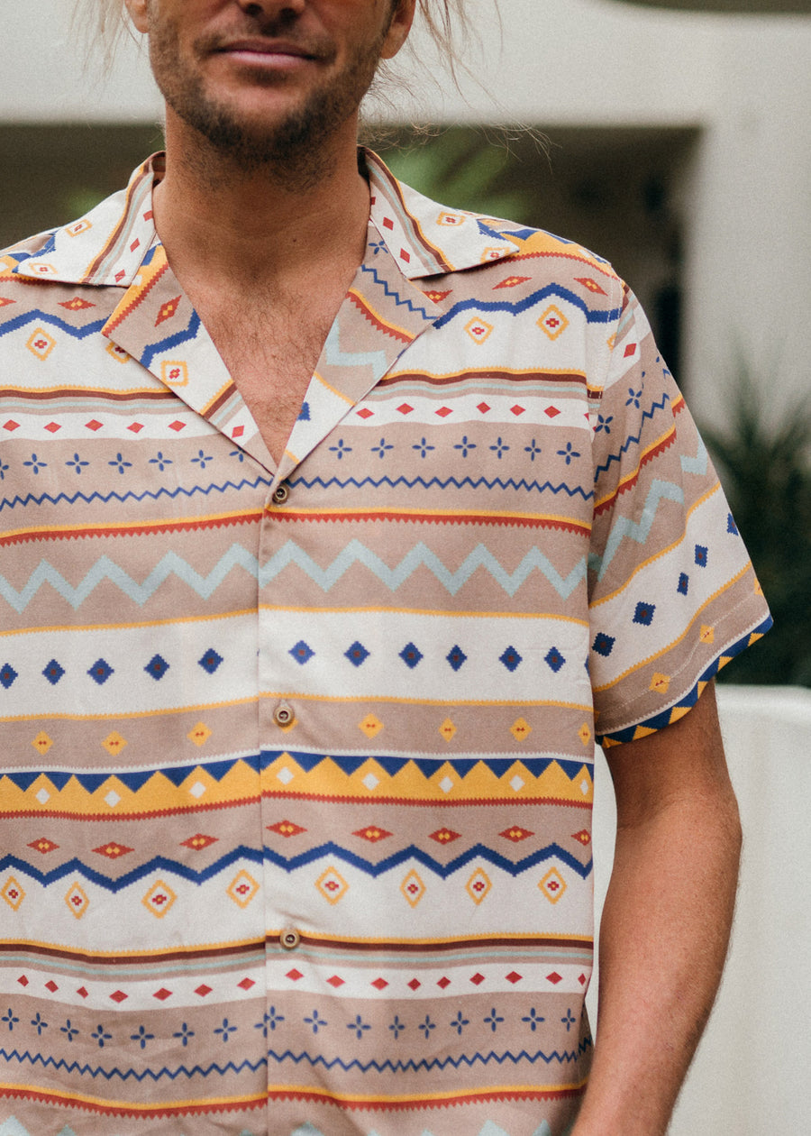 REGGIE - Ethnic Short Sleeve Shirt