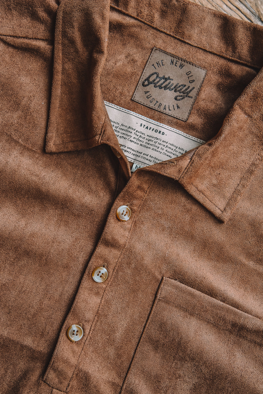 Stafford - Suede Long Sleeve Shirt