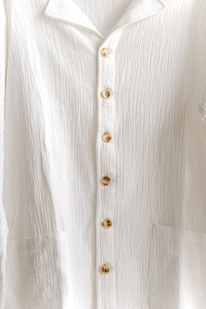 PALMER - WOMEN WHITE LONG SLEEVE SHIRT