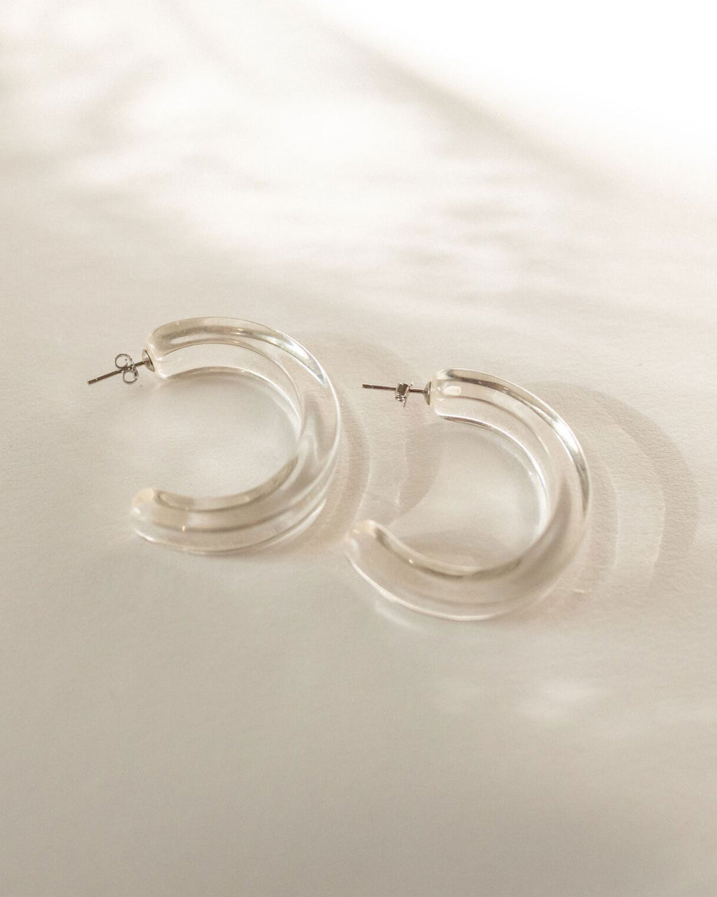 Barossa Clear Hoop Earrings
