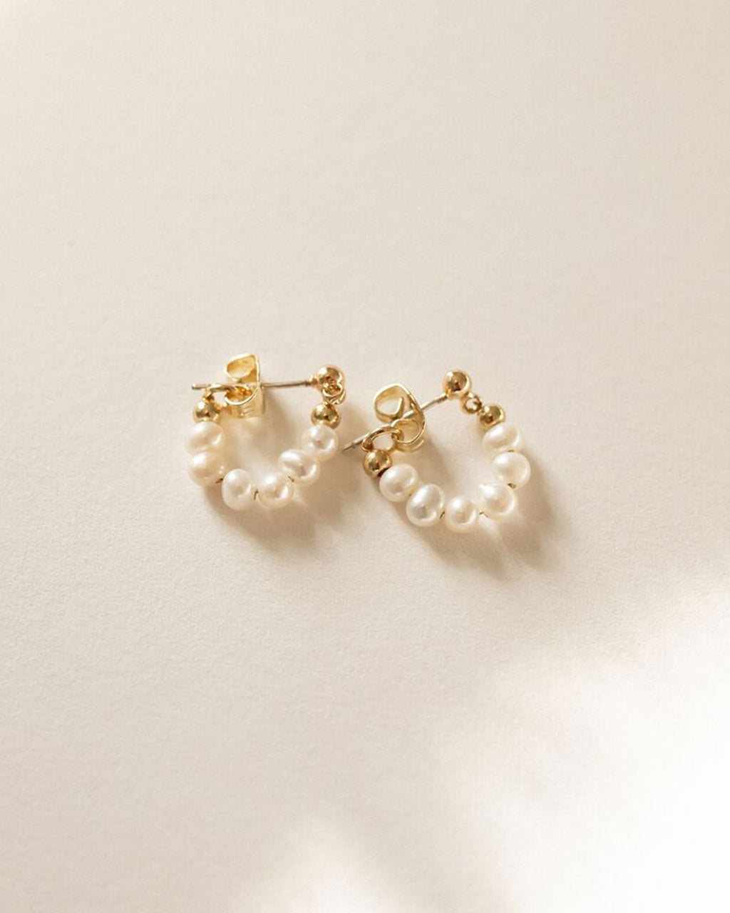 Pearl Huggie Earrings