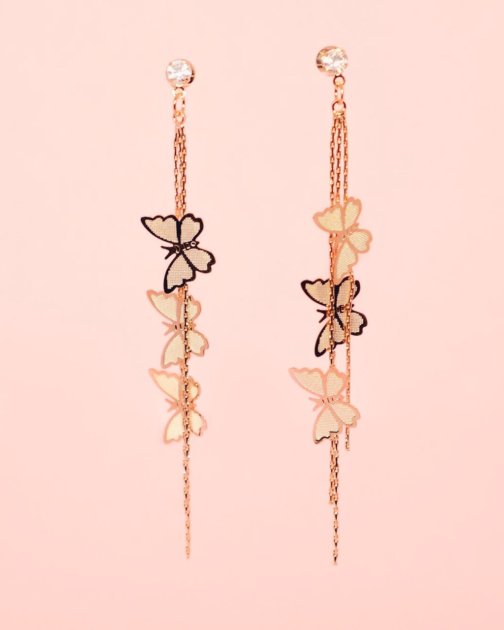 Gold Butterfly Earrings