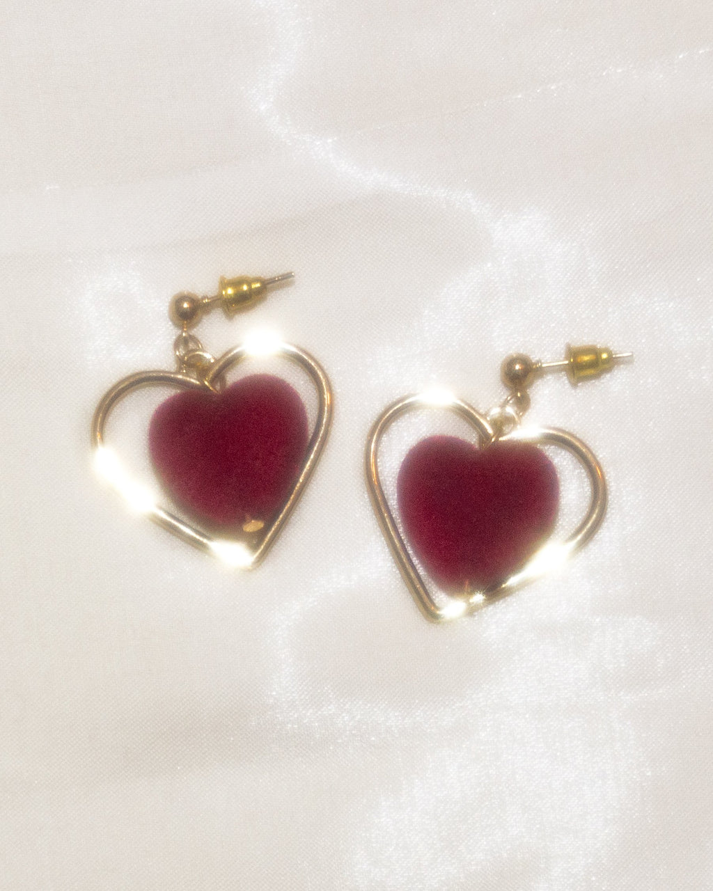 Heart of Red Velvet Earrings