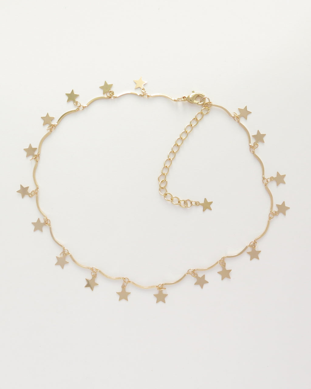 Gold Star Choker Necklace