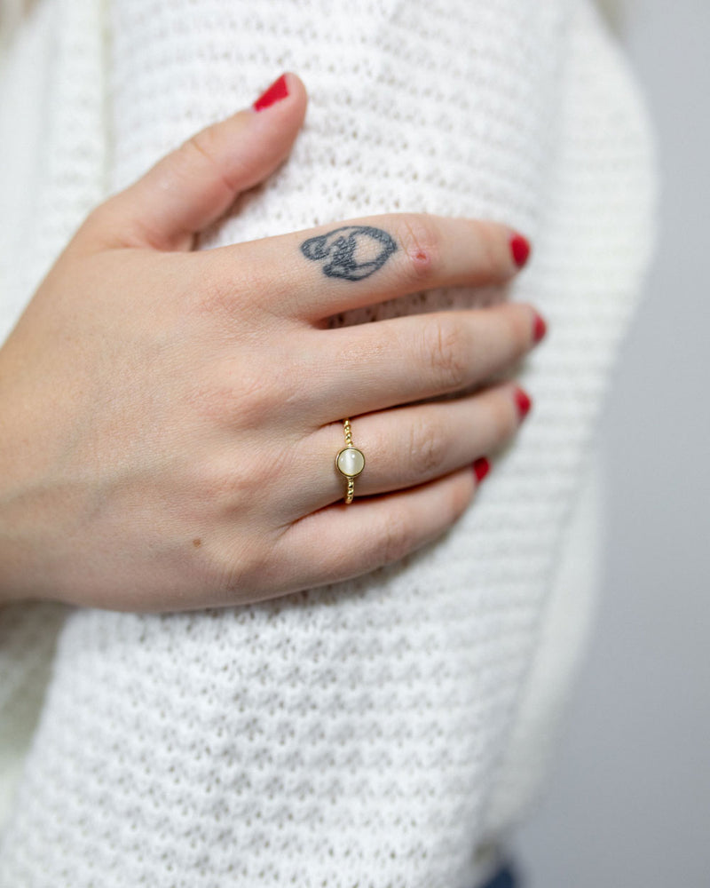 Cat Eye Gold Vermeil Ring