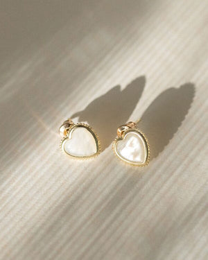 Snow White Stud Earrings