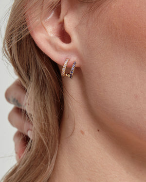 Duo Diamond Earrings