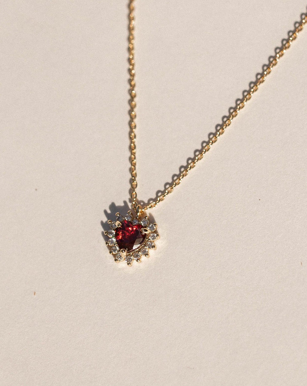 Elodie Red Hearted Necklace