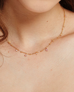 Elysee Necklace in Pink