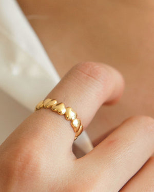 Gold Vermeil Hearts Ring