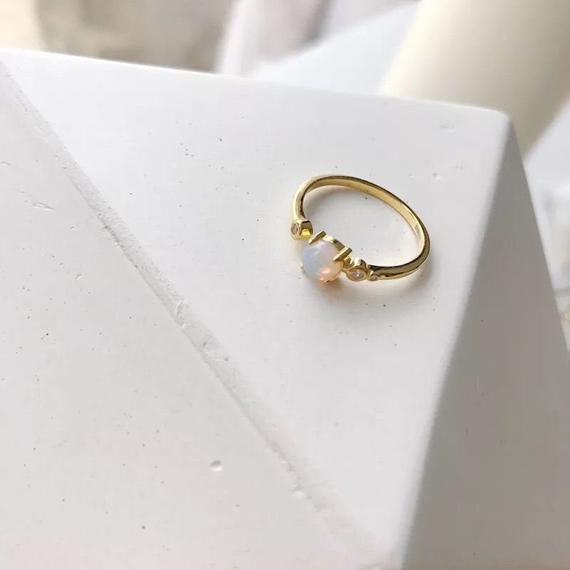 Gold Vermeil Opal Ring