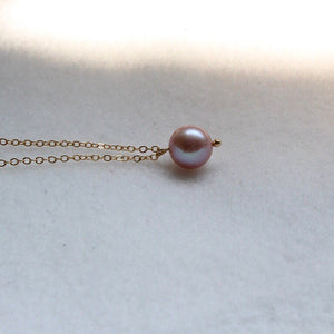 Natural Pink Pearl Gold-filled Necklace
