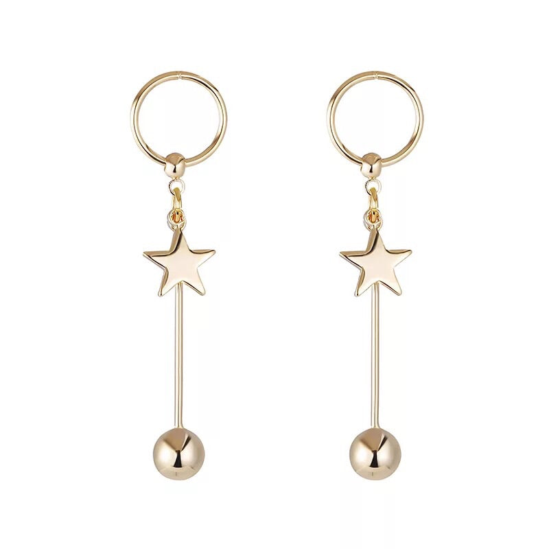 Bella Gold Star Earrings, , En Route jewelry - En Route jewels