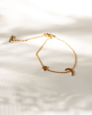 Eris Crescent Star Gold Bracelet