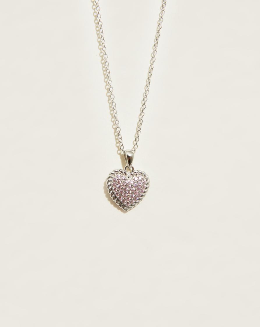 Pink Pave Necklace