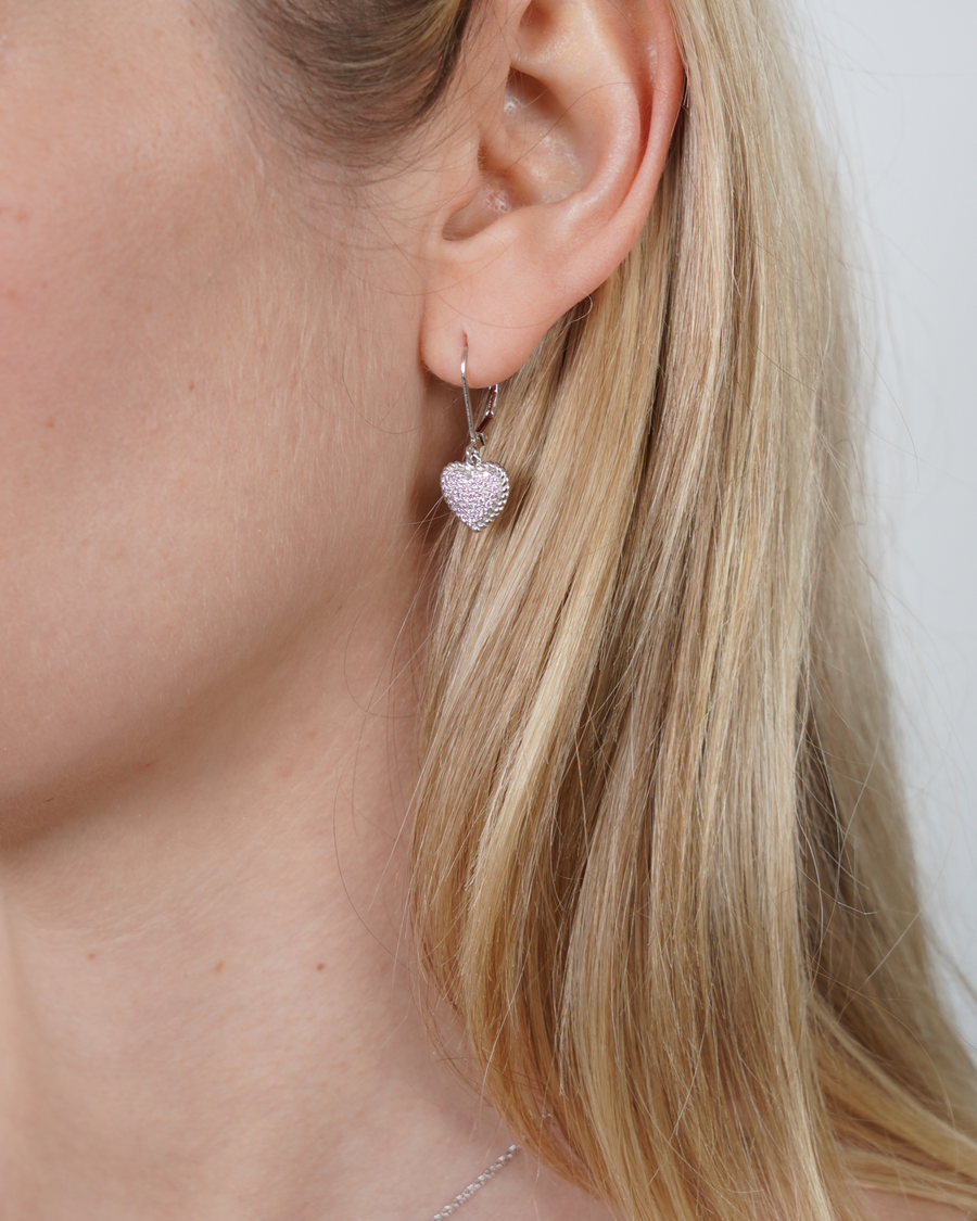 Pink Pave Earrings