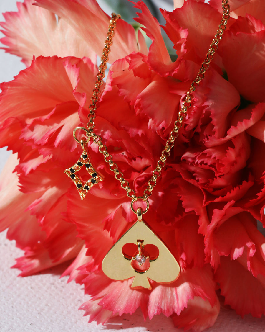 High Card Spade Charm Necklace
