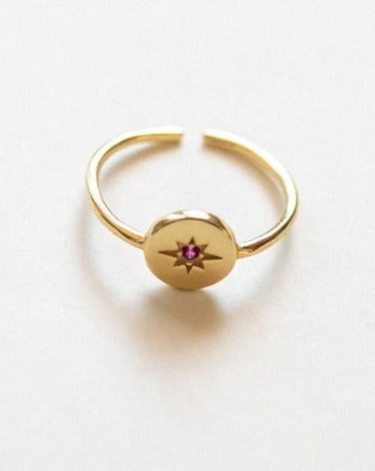 Starburst Gold Vermeil Ring