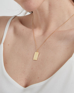 Gold Vermeil Tag Necklace