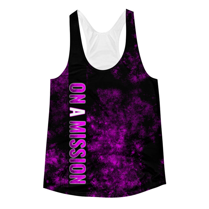 Bigger Dreamz - On A Mission - Women's Racerback Tank